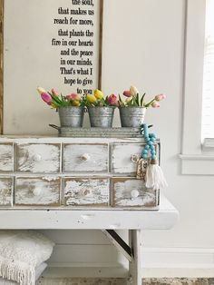 Farmhouse bedroom inspiration with BoHo Beads Modern Farmhouse Bedroom, Shabby Chic Farmhouse, Farmhouse Kitchen Decor, Wood Bead Garland, Beaded Garland, Bedroom Inspiration, Bedroom Inspo, Eclectic Style, Painting On Wood