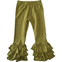 Girls Triple Ruffle Pants