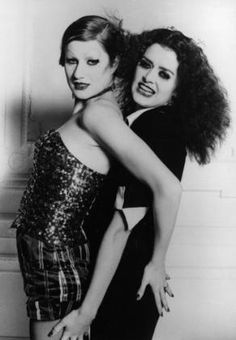 "Little Nell (Columbia) & Patricia Quinn (Magenta), ""The Rocky Horror Picture Show"", Rocky Horror Show, Columbia Rocky Horror, The Rocky Horror Picture Show, Janet Rocky Horror, Tv Movie, Horror Costume, Creatures Of The Night, Vogue, Cosplay"