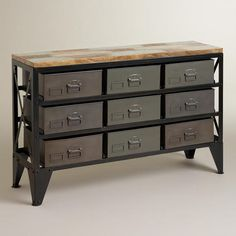One of my favorite discoveries at WorldMarket.com: Zarina Metal Bin Console Table