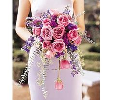 Cascading Lavender Roses Bouquet in Rochester NY, Fabulous Flowers and Gifts