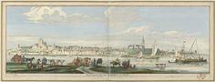 Jan Ruyter   Gezicht op Nijmegen vanuit het oosten, Jan Ruyter, Cornelis Pronk, 1726 - 1744   Gezicht over de rivier de Waal op de stad Nijmegen, met het Valkhof en op de achtergrond de Sint-Stevenskerk. Op de voorgrond diverse zeilschepen.