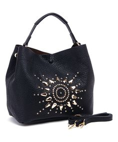 Look at this Fabulous Age Black Stud Sunburst Hobo on #zulily today!