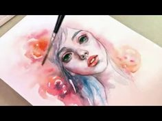 Recorded my portrait study. Music - No copyright infringement intended. ♡ BECOME MY PATRON ♡ Help me create more videos and content more often by supporting . Watercolor Portrait Tutorial, Watercolor Portrait Painting, Watercolor Face, Watercolor Video, Watercolor Illustration, Painting & Drawing, Watercolour Tutorials, Watercolor Brushes, Cool Art Drawings