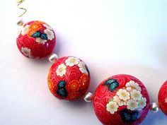 Red Rose Beads by ToniNZ, via Flickr