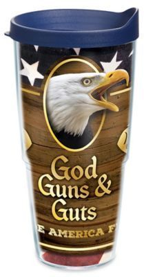 Tervis God Guns and Guts 24 oz. Wrap Tumbler with Lid