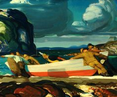 George Bellows, The Big Dory, 1913, Oil on panel, Columbus, OH artist