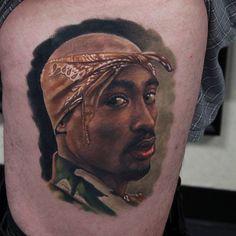 Portrait Tupac Tattoo