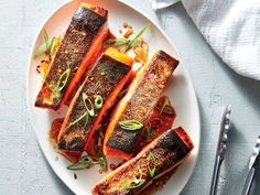 ck- Crispy Salmon Fillets with Sesame-Soy Drizzle