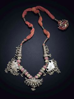 India | Silver amulet necklace from Bikaner, Rajasthan | 20th century | 750$ ~ sold (Mar/12)