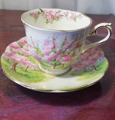 """Royal Albert """"Blossom Time""""excellent    no. 79933 Tea Cup and Saucer 