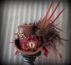 Jabberwocky, Dragon Eye Mini Top Hat Steampunk Dragon hat Alice in by ChikiBird