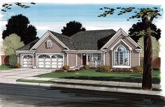 Contemporary   Ranch   Traditional   House Plan 24745