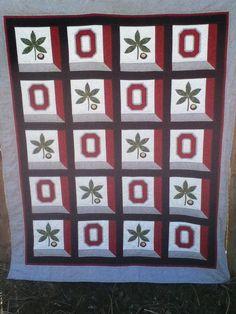 Ohio State OSU Buckeye Quilt Wallhanging by MidWestThreadsOhio
