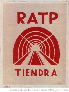 [Mai 1968]. R.A.T.P. tiendra. Ecole nationale supérieure des Beaux-Arts : [affiche] (Impression en rouge) / [non identifié] - 1