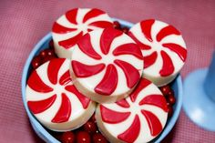 Love these peppermint chocolate covered Oreos at an Elf on the Shelf party!  See more party ideas at CatchMyParty.com!  #partyideas #christmas
