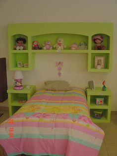 TABLAROCA CASA MULTISERVICIOS My Room, Girl Room, Girls Bedroom, Bedroom Decor, Kitchen Cupboard Doors, O Design, Wall Mounted Tv, Kid Beds, Toddler Bed