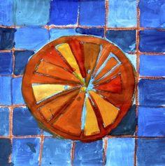 Citrus fruits in complementary colors Will Turner, Fruit Art Kids, Citrus Fruits, Art Lesson Plans, Preschool Activities, Art Lessons, Shapes, Third Grade, Colors