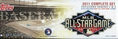 MLB 2011 Topps Factory Set- All Star Edition by Topps. $59.99. Each complete set of 2011 Topps Baseball contains 660 Regular Cards Plus 1 five-card Set of Exclusive All-Star player cards packed in a shrink-wrapped, full-color, All-Star-themed display box.   The All Star Game takes place in Arizona with the Diamondbacks in 2011