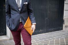 Men clutch, Handcrafted in Paris. Man Clutch, Paris, Gentleman, Lancelot, Blazer, Leather, Jackets, Men's Accessories, Bespoke