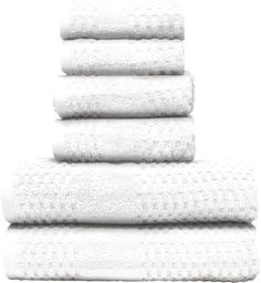 Micro Lush White Diamond Dobby Bath Towel