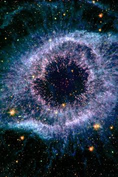 "#HELIXNEBULA - The Helix Nebula is one of the most familiar nebulae in astronomy, and it's been nicknamed the ""Eye of God"". Its official designation is NGC 7293, the Helix Nebula is located inside the constellation of Aquarius. The Helix Nebula is one of the closest examples of a planetary nebula. Astronomers have estimated its distance to only be 700 light-years away."