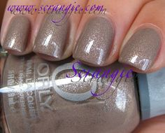 Orly 'Night Owl'.  Fall 2011 Birds of a Feather Collection.    Love this sparkly/glittery putty/taupe/gray/beige creme.  SO PRETTY