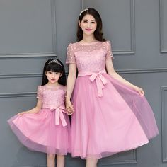 mother daughter dress Summer family outfits short sleeve chiffon lace dresses mother daughter dresses clothes look matching _ {categoryName} - AliExpress Mobile Version - Mom Daughter Matching Dresses, Mommy And Me Dresses, Dresses Kids Girl, Matching Family Outfits, Fashion Kids, Outfits Madre E Hija, Lace Mesh Dress, Mother Daughter Fashion, Mother Daughters