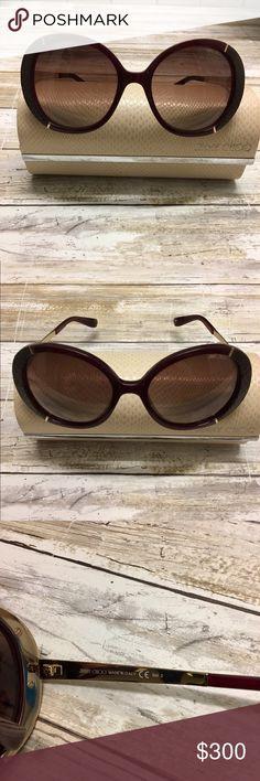 42e053ae6f92 Jimmy Choo Millie sunglasses Jimmy Choo Millie Sunglasses are a round  oversized frame with a glamorous