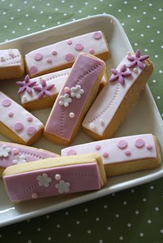 Decorated shortbread cookies.