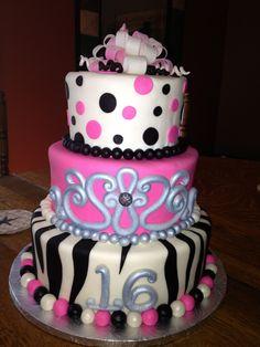 Cierra's 16th birthday cake made by Sugarfuse. www.sugarfuse.com