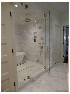 Steam Showers Bathroom, Bathtub Shower, Shower Doors, Marble Bathtub, Bath Tub, Shower Walls, Shower Drain, Rain Shower, Steam Shower Enclosure