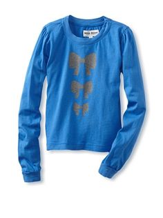 Beyond 50% OFF discounted Upper School Girl's Bow Puff Sleeve Tee (Snowflake Blue)