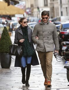 Olivia Palermo with Johannes Huebl in Paris