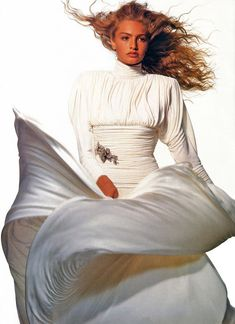 Patrick Demarchelier, 80s Fashion, Fashion Beauty, High Fashion, Fashion Looks, Fasion, Vogue Paris, Helena Christensen, Michaela Bercu