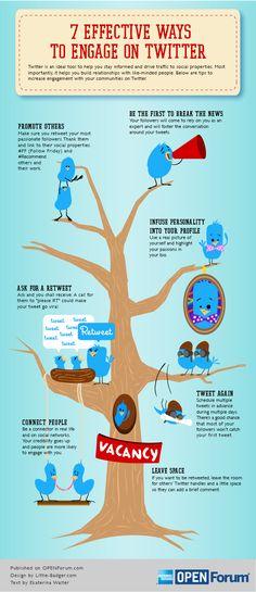 7 maneras efectivas de aumentar tu engagement en Twitter #infografia #infographic #socialmedia