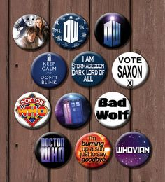 Full 24 button Doctor Who set by TheGeekStudio on Etsy
