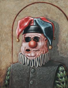 Lowbrow Pop surrealism limited edition art print by Pete Gorski titled: The Fool Knows Not of What He Speaks Lowbrow Art, Pop Surrealism, All Print, Mind Blown, Dark Art, The Fool, Creative Art, Original Paintings, Vibrant