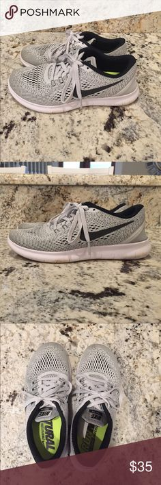 3114288893 Nike running shoes Run Natural style. Grey with underlying black. Gently  worn only a
