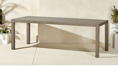 matera large grey outdoor dining table | CB2
