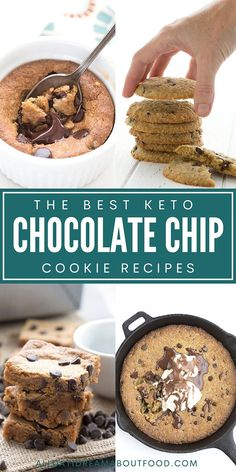 Who doesn't love a warm chocolate chip cookie, gooey and delicious? I've gathered together the best keto chocolate chip cookie recipes the internet has to offer. 25 awesome recipes you need to try!
