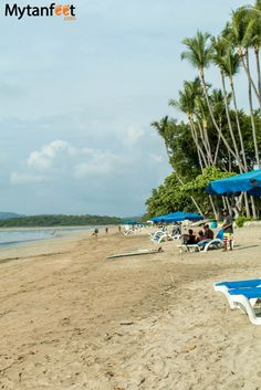 Playa Tamarindo, a beautiful surfing beach in Costa Rica. Read our guide to visiting here: http://mytanfeet.com/costa-rica-beach-information/playa-tamarindo-costa-rica/