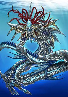 Water Dragon   water dragon by ~pamansazz on deviantART