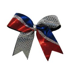 Custom Large Short Tail Strike Bow with Specialty and Sequin Material by Cheerleading Company.. I can get 6 of these for a great price! I may order 12 just in case:)