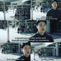 Jung Hwan talking about Fate and Timing Korean Drama Quotes, Korean Drama Movies, Reply 1988 Quote, Park Bo Gum Reply 1988, Movie Captions, Fate Quotes, Ryu Jun Yeol, Drama Memes, Japanese Drama