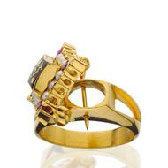 Oval Badge Ring