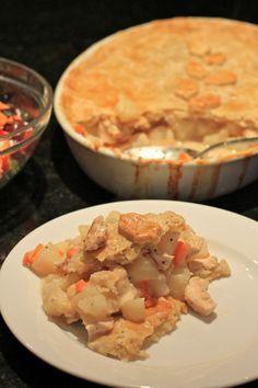 Chicken Pot Pie (potatoes, carrots, roux w/ chicken stock)