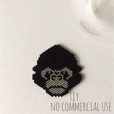 Gorille en perles Miyuki #bijouxtiy