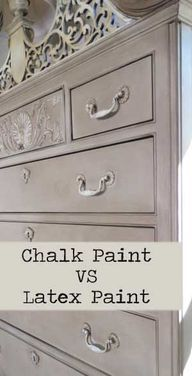 Chalk Paint vs Latex...