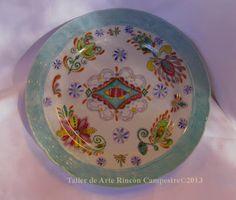 Porcelain Painting- Pintura en Porcelana- www.tallercampestre.com.ar (Calcos de contorno de Magia Pura)